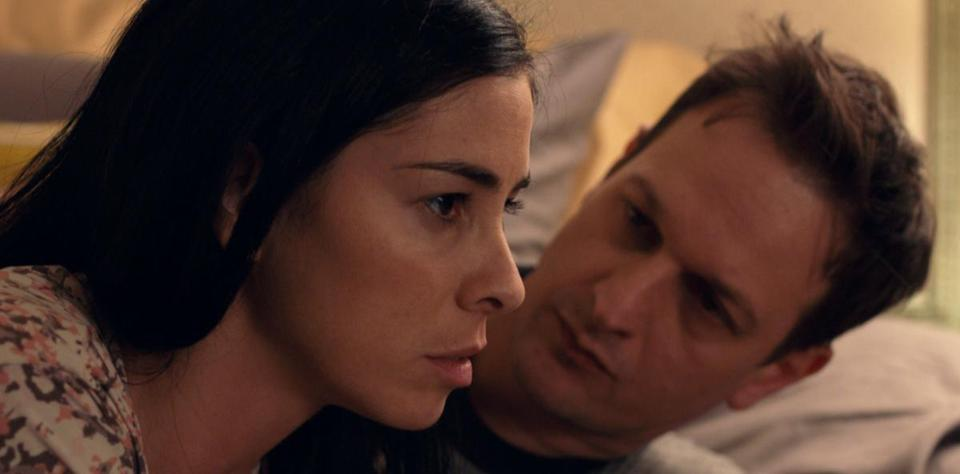 "Sarah Silverman and Josh Charles in ""I Smile Back."""